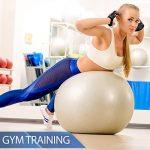 BALLON DE GYMNASTIQUE - Yoga, Pilates - Pompe comprise de la marque POWRX image 4 produit