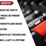 Beast Grips de Beast Gear – Thick Bar / Poignée Accessoire pour Augmenter le Diamètre d'une Barre d'Haltère, pour une Musculation Massive des Bras et Avant-bras et Avoir de Gros Muscles de la marque Beast Gear image 4 produit