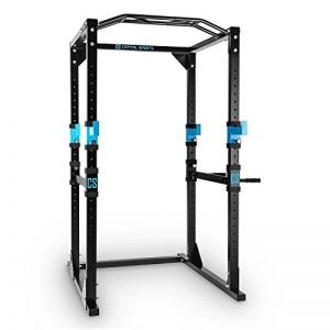 CAPITAL SPORTS Tremendour Power Rack • cage squat • station de musculation • 2 x Safety Spotter: 20 hauteurs • 4 x J-Hooks • barre de traction multiprise • construction massive en acier • noir de la marque Capital Sports image 0 produit