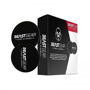 Core Sliders Glisseurs pour le Tronc Beast Gear – Disques Glissants Doubles Faces pour Exercices Abdominaux – Gliding Discs/Ab Gliders - Utilisables sur Tapis de Gym ou Sol Dur de la marque Beast Gear image 0 produit