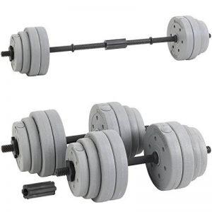 DTX Fitness Barre de Poids Musculation Haltère 50mm Olympique 120cm Noir//Chrome