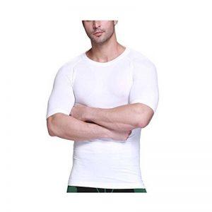 Erica Hommes De Plein Air Body Shaper T-Shirt De Compression Séchage Rapide Manche Courte Maillot De Corps de la marque Ning image 0 produit