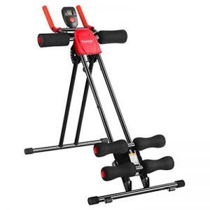 Finether Appareil de Fitness Abdominal Pliable et Réglable avec 6 Niveaux de Résistance Incliné Rouge Noir de la marque Finether image 0 produit