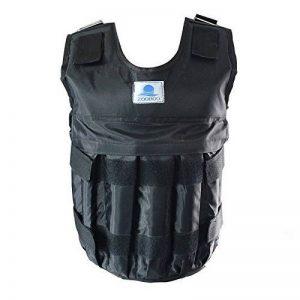 formation de poids Gilet réglable d'exercice fitness Gilet de poids 20kg/20kilogram Noir de la marque VSAIL image 0 produit
