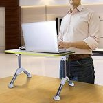 Gecko Care réglable pour ordinateur portable Table de bureau, portable, Standing Desk, support pour ordinateur portable Support de lecture pour sol de canapé, table Plateau de lit avec pieds pliables de la marque Gecko office products image 5 produit