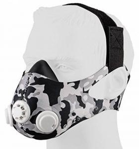 GEEZ Revolt Training Masque pour Hauteur Training - Augmentation de la physique Fitness Masque respiratoire Masque Masque, Silver on black (Silver on Black, M) de la marque GEEZ image 0 produit