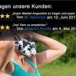 GEEZ Revolt Training Masque pour Hauteur Training - Augmentation de la physique Fitness Masque respiratoire Masque Masque, Silver on black (Silver on Black, M) de la marque GEEZ image 3 produit