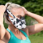 GEEZ Revolt Training Masque pour Hauteur Training - Augmentation de la physique Fitness Masque respiratoire Masque Masque, Silver on black (Silver on Black, M) de la marque GEEZ image 1 produit