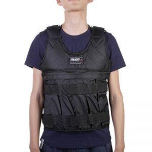 Gilet lesté réglable Poids Veste Charge maximale 50kg d'exercice de boxe Gilet d'entraînement invisible Weightloading Sable Vêtements (vide) de la marque XIAOWANG image 0 produit