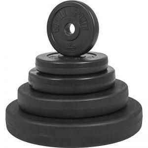 Gorilla Sports® Disque d'haltère en plastique –Poids 1,25-15kg avec trou de 30/31mm de la marque Gorilla Sports image 0 produit