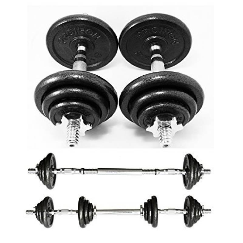 standard 14 Golds Gym Haltère Poignée Avec Spinlock colliers