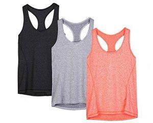 icyzone Débardeur Et Tops de Sport Gilet Femme T-Shirt sans Manches Yoga Fitness Elastic Vest de la marque icyzone image 0 produit