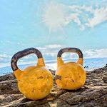 Kettle Bell »Kylon« de #DoYourFitness / idéals pour un entraînement ciblé de force d'endurance rééducation la physiothérapie / Produit haute qualité haltère boule à main de 2 à 20 kg 100% fer et 100% fonte colorés confortable excellente protection surface image 3 produit