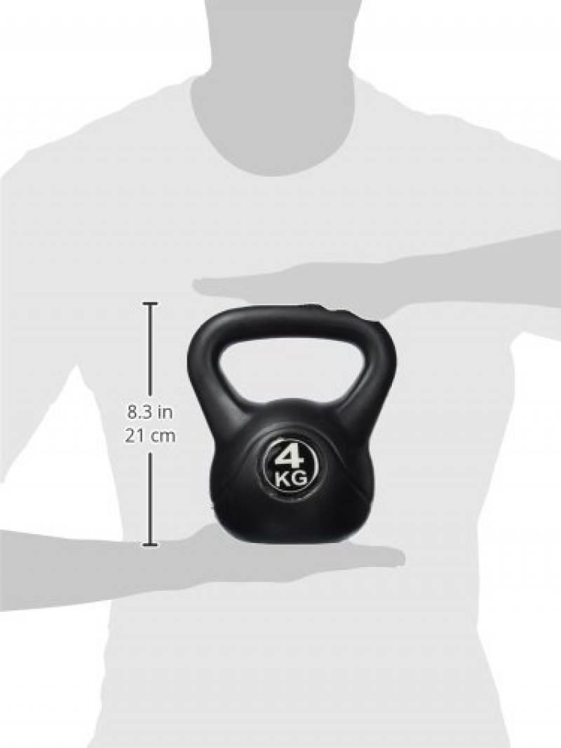 POWRX Affiche d/´entr/înement PDF Rev/êtement n/éopr/ène Kettlebell en Fonte 4-20 kg
