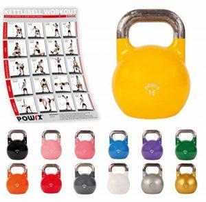 Kettlebell professionnelle de compétition de 4 kg à 28 kg de la marque POWRX image 0 produit