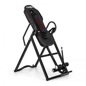 Klarfit Ease Delux • Table d'inversion • Banc d'inversion max 136kg • Revêtement pour massage dorsal avec fonction chauffante • Réglable avec un angle d'inversion de 20, 40 et 60° • Pour des tailles de 1,54-1,98m de la marque Klarfit image 0 produit
