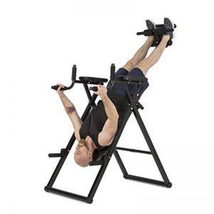 Klarfit Power-Gym • Table d'inversion • Banc lombaires • 6-en-1-Multitrainer • Entraînement inversion, pompes, squats, tractions, dips & abdos • jusque 120 kg • réglable • noir de la marque Klarfit image 0 produit