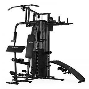 Klarfit Ultimate Gym 3000-5000 • Appareil Multifonction musculation • Entrainement complet • Station fitness permettant exercices divers • Structure robuste • Câble en métal avec revêtement plastique de la marque Klarfit image 0 produit