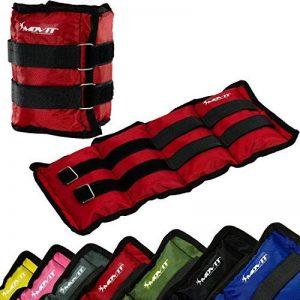 MOVIT® - Lot de 2 bracelets poids lestés pour chevilles et poignets - 2x 0,5 kg á 4,0 kg Couleurs différent de la marque MOVIT® image 0 produit