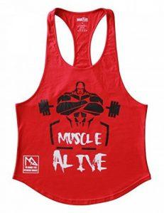 Musclealive Hommes La musculation Débardeur Raidisseur Gilet Coton de la marque Musclealive image 0 produit