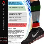 NV Compression Race and Recover Manchons de compression pour les mollets - Noir - Compression Sports Calf Sleeves - Black - For Running, Cycling, Triathlon, Crossfit, Gym de la marque NV Compression image 2 produit