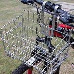 Panier à vélos, remorquage repliable avant à l'avant de vélos, capacité de 33 lb (15 kg) (black) de la marque webeauty image 2 produit