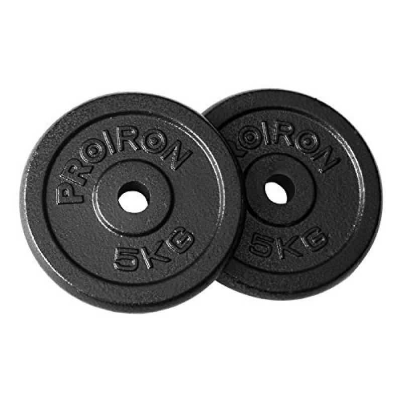 Croch Disque Musculation Plaque de Poids en Fonte avec Tri-Grip 2.5Kg 5Kg 10kg 15kg 20kg