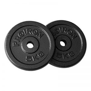 """PROIRON Disques de plaques de poids en fonte 1.25kg 2.5kg 5kg 10kg 20kg (Choix des tailles) pour 1 """"barre d'haltères de la marque PROIRON image 0 produit"""