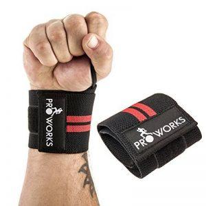 Proworks Bracelet Sangle de support haltérophilie musculation ajustable pour poignée Taille Unique Noir (Vendu Par Paire) de la marque Proworks image 0 produit