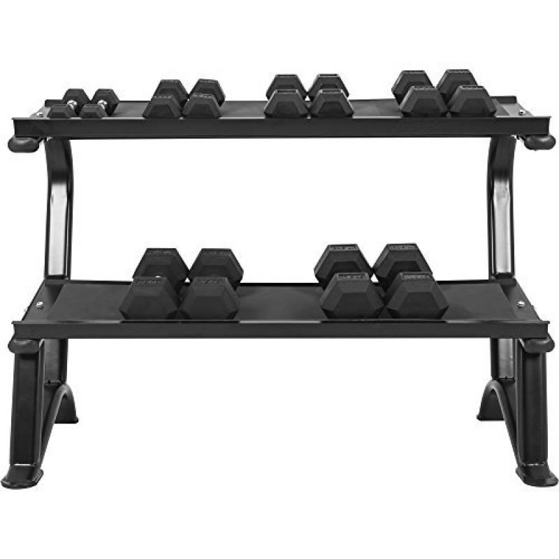 Gris Portable Haltère Poids Stockage Rack Vertical fitness forme d/'haltère Support//Arbre