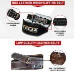 """RDX Ceinture de Musculation 6"""" Cuir Vachette Musculation Fitness Bodybuilding Force Belt Lombaire Halterophilie Entraînement de la marque RDX image 2 produit"""