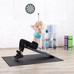 Relaxdays Banc Sit Up Trainer pour exercices et entraînement muscles abdominaux et dos Fitness 5 positions, noir de la marque Relaxdays image 1 produit
