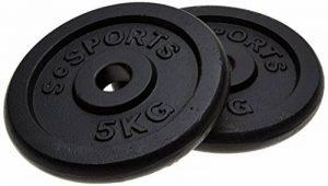 ScSPORTS Disques pour haltères 30 mm 2 x 5 kg de la marque ScSPORTS image 0 produit