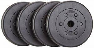 ScSPORTS/HS049 Haltères Plastique Trou 30 mm Noir 4 x 5 kg de la marque ScSPORTS image 0 produit