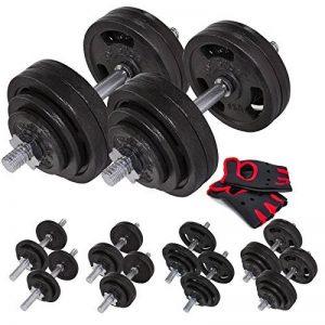 Set Haltère courts en fonte 60 kg (2x30 kg) musculation Gym maison formation a domicile de la marque Hop-Sport image 0 produit