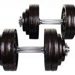 Set Haltère courts en fonte 60 kg (2x30 kg) musculation Gym maison formation a domicile de la marque Hop-Sport image 2 produit