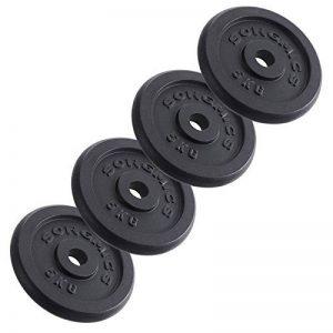 Songmics Disques de Fonte pour Musculation Haltère 4 x 5 kg SYL02T de la marque SONGMICS image 0 produit