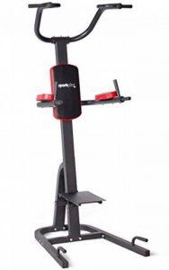 Sportplus SP-HG-014 - Chaise Romaine/Power Tower - Avec poignées à dips pliables - Barre de traction - Poignées pour pompes - Compacte et ultra pratique de la marque Sportplus image 0 produit