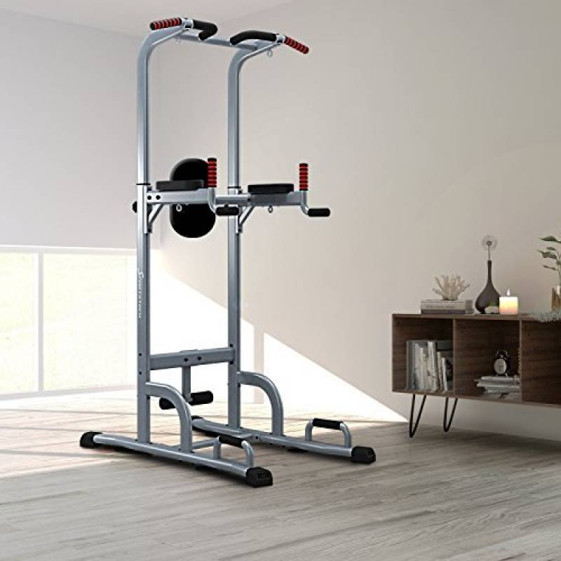 Sportstech Chaise Romaine 7 En 1 PT300 Power Tower Tour De Musculation Multifonctions Barre Traction Station Tractions Dips Abdominaux Accoudoirs
