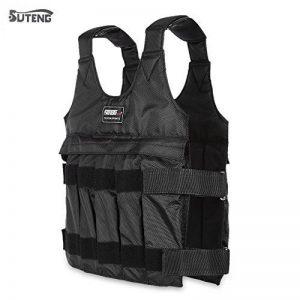 Suteng 50kg Max chargement Gilet lesté réglable Fitness Veste de sport de la marque Aichoic image 0 produit