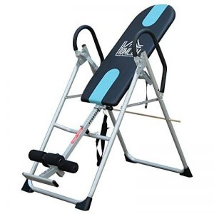 Table d'inversion de musculation pliable ceinture de sécurité réglable acier coloris argent noir neuf 53 de la marque Homcom image 0 produit