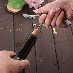 Tire Bouchon - Smaier Poignée De Palissandre Tire bouchon De Serveurs, Tout-en-un Ouvre Bouteille et Couteau de Papier d'aluminium - Les Meilleurs Accessoires et Cadeaux de vin de Barre de la marque Smaier image 4 produit