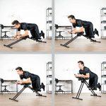 Ultrasport Appareil pour abdominaux Ultra 150 - Power AB Trainer, appareil de fitness à domicile pour accompagner un régime, renforcer les muscles abdominaux ainsi que le dos et les épaules, pliable de la marque Ultrasport image 4 produit