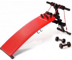 Ultrasport banc de musculation pliable 3 en 1 / Banc d'haltérophilie stable en tant qu'appareil pour abdominaux, y compris un kit d'haltères et des bandes élastiques, banc d'exercices pour femmes et hommes jusqu'à 100 kg - Banc à usage multiple pour un en image 0 produit