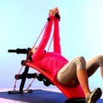 Ultrasport banc de musculation pliable 3 en 1 / Banc d'haltérophilie stable en tant qu'appareil pour abdominaux, y compris un kit d'haltères et des bandes élastiques, banc d'exercices pour femmes et hommes jusqu'à 100 kg - Banc à usage multiple pour un en image 1 produit