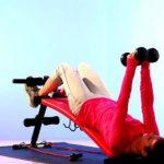 Ultrasport banc de musculation pliable 3 en 1 / Banc d'haltérophilie stable en tant qu'appareil pour abdominaux, y compris un kit d'haltères et des bandes élastiques, banc d'exercices pour femmes et hommes jusqu'à 100 kg - Banc à usage multiple pour un en image 3 produit