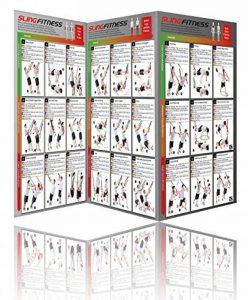 Variosling® Poster avec 54 exercices pour un entraînement fonctionnel avec les sangles de suspension / Sling-Trainer | instruction de la musculation bipartite, grande de la marque Variosling image 0 produit