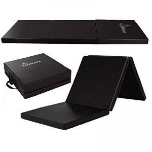 WolfWise Tapis de Fitness Pliable 60 x 180 x 5cm Gymnastique Exercices Sport Yoga PU EPP Anti-dérapant Nettoyage Facile - Noir de la marque Wolfwise image 0 produit