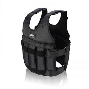 Yosoo Max Chargement 50 KG Weighted Gilet Workout Poids Veste exercice Boxe Fitness Training (50KG) de la marque Yosoo image 0 produit